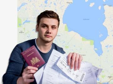 Milan Schipper acaba en Canadá cuando creyó estar viajando hacia Australia