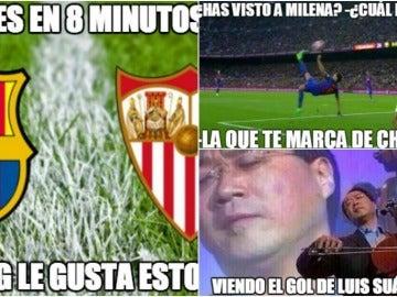 Los 'memes' del Barcelona-Sevilla