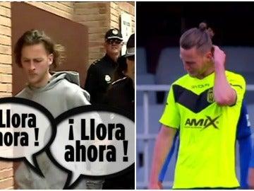 Maiki Fernández, el jugador del Eldense que lloró y luego fue detenido