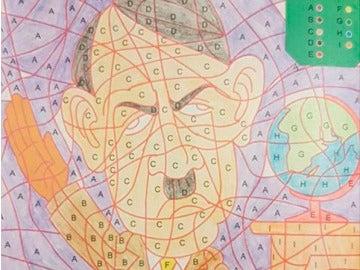 Dibujo de Hitler para colorear
