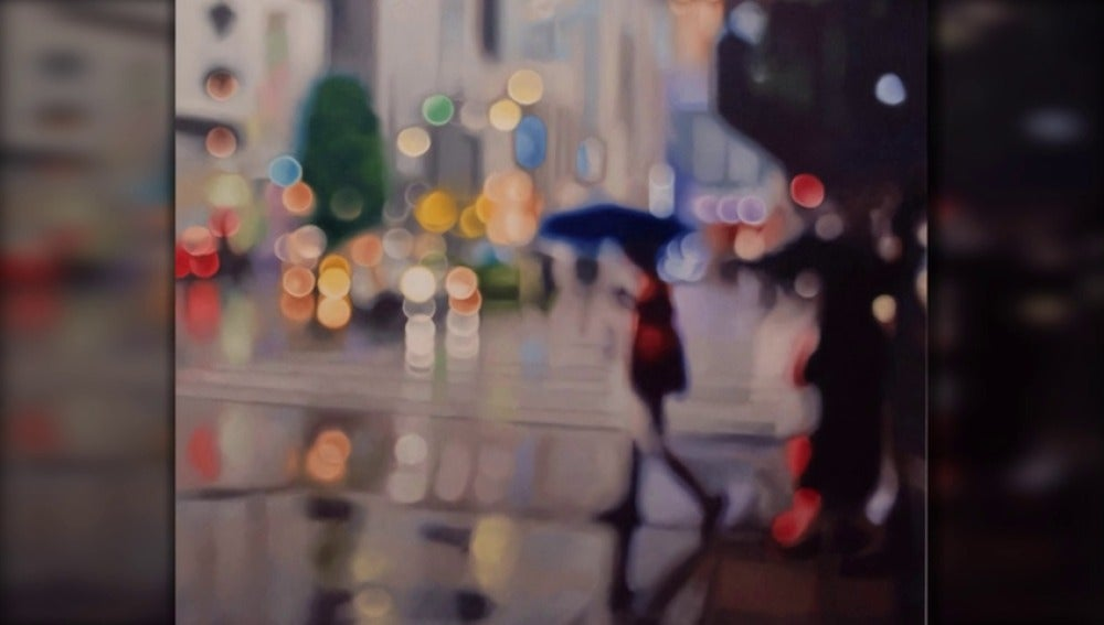 Frame 7.721777 de: Los cuadros de un pintor miope que pinta sin gafas triunfan a nivel internacional