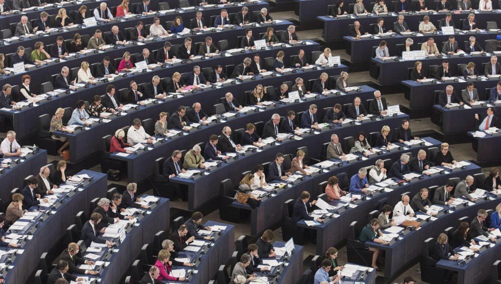Vista general del Parlamento Europeo en Estrasburgo