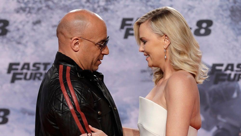 Vin Diesel y Charlize Theron en Berlín