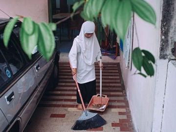 Una niña de Malasia