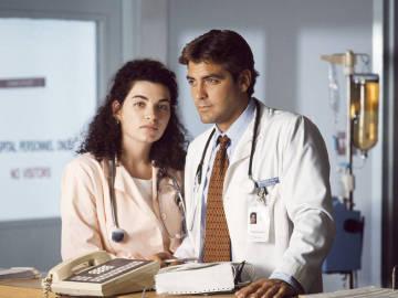 Julianna Margulies y George Clooney en 'Urgencias'