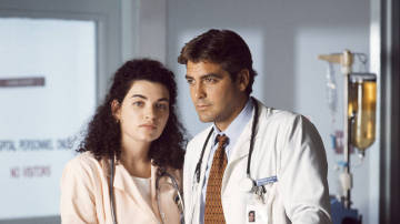 Julianna Margulies y George Clooney en 'Urgencias'