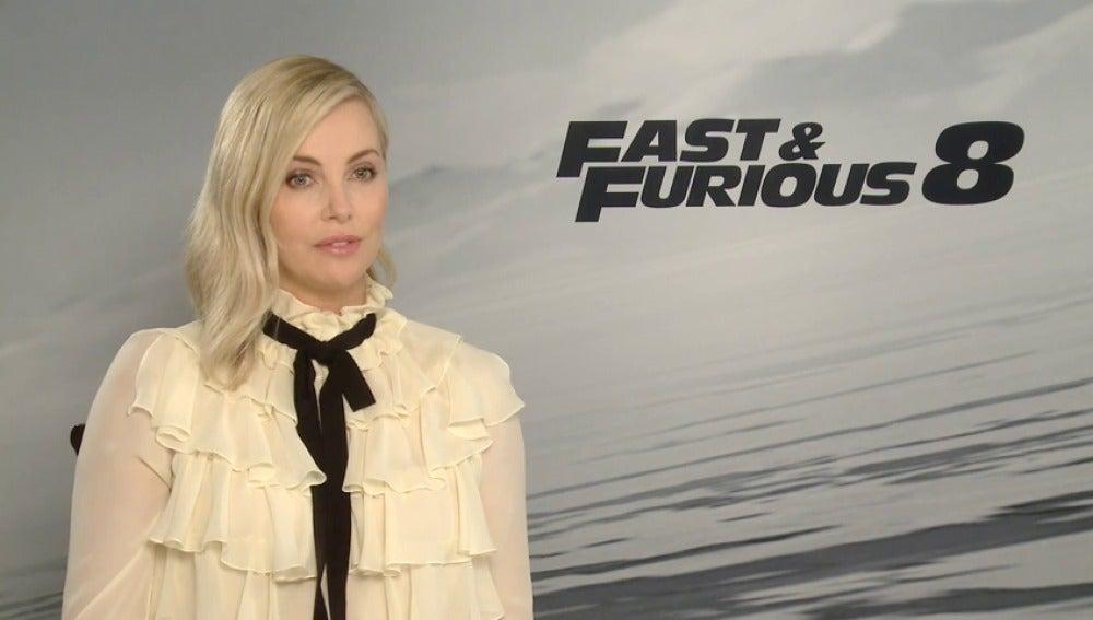 "Frame 44.118748 de: La actriz Charlize Theron presenta en Madrid ""Fast and Furious 8"""