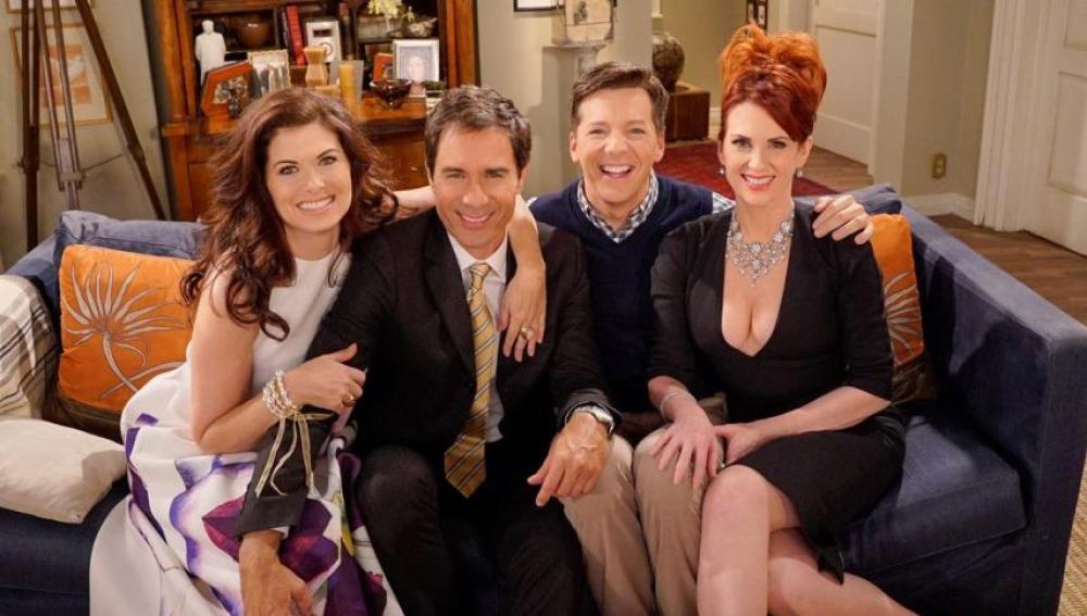 El reparto de 'Will and Grace' en una reciente reunión