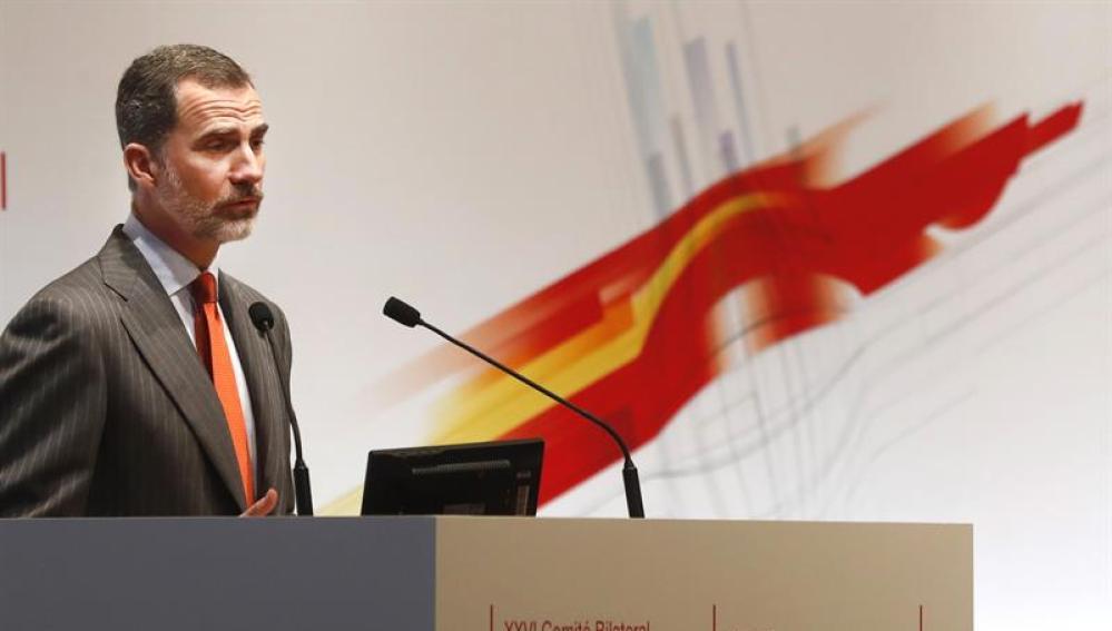 El Rey Felipe en la reunión del Comité Bilateral de Cooperación Empresarial Hispano