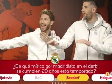 Frame 13.610476 de: El test más divertido a jugadores de Real Madrid y Atlético antes del derbi: ¿quién sabe más?