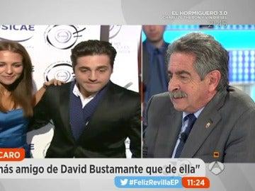 """Frame 64.31238 de: Miguel Ángel Revilla sobre la separación de Paula Echeverría y David Bustamante: """"Es un matrimonio de riesgo, él cantante y ella actriz."""
