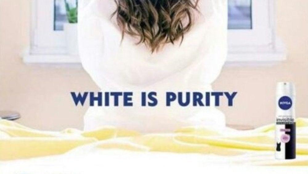 Campaña de Nivea 'El blanco es pureza'