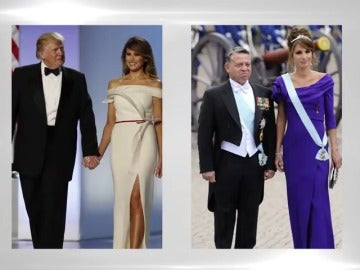 Frame 8.536291 de: Melania Trump ejerce como primera dama junto a la reina Rania de Jordania