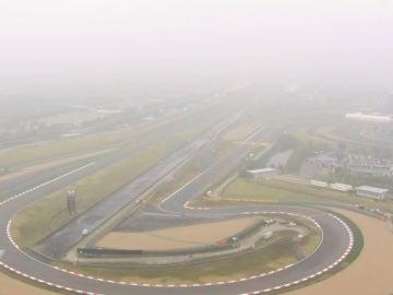 La niebla cubre el trazado de Shanghái