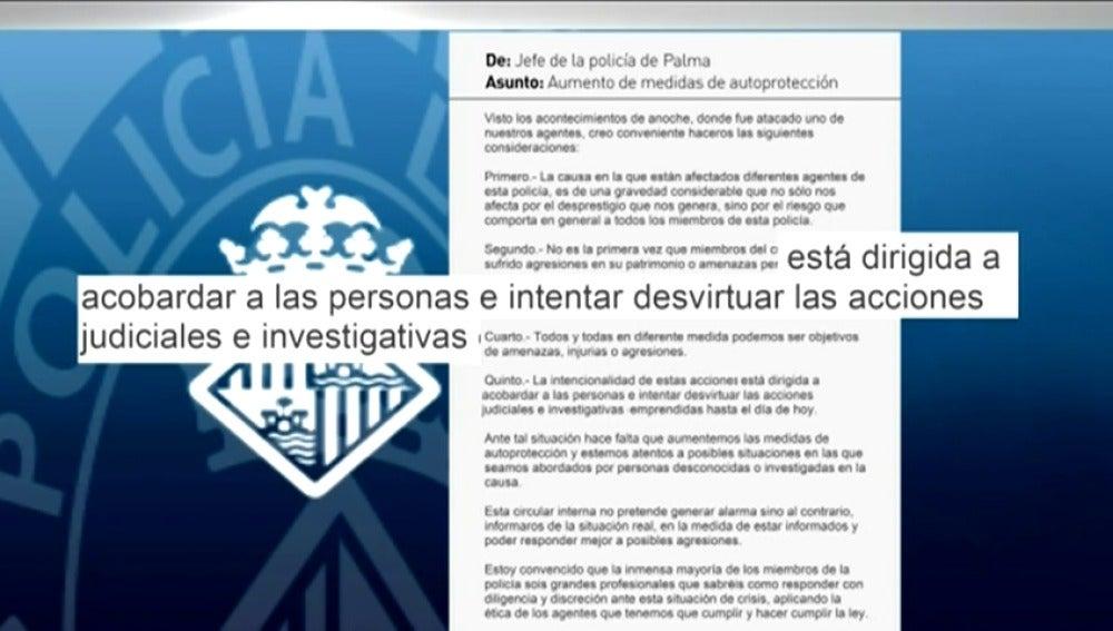 Frame 15.616 de: Un agente de Palma de Mallorca recibe amenazas por investigar una trama de corrupción dentro del cuerpo