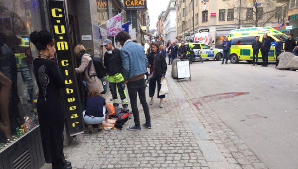 Varios heridos en el atentado en Estocolmo