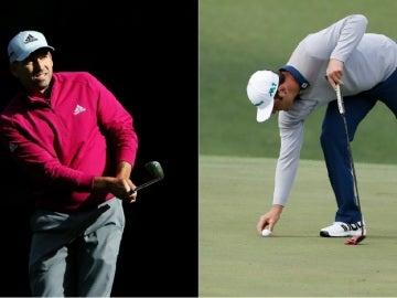Sergio García y Jon Rahm, en el Masters de Augusta