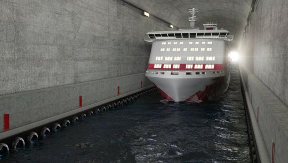 Noruega construirá un túnel para barcos