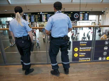 Policías en Oslo