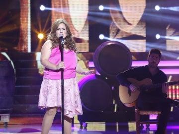 Tamara Jerez inunda el plató con la interpretación 'Solo tú' de Pastora Soler
