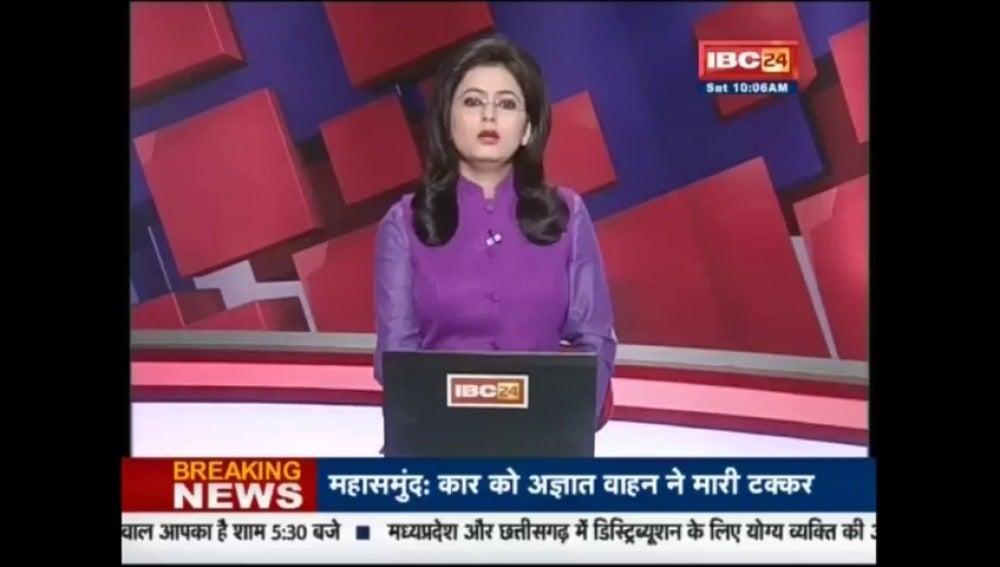 Frame 0.0 de: Esta presentadora informa en directo de la muerte de su marido