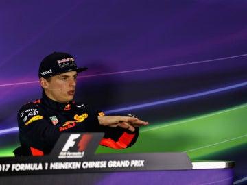 Verstappen, en rueda de prensa