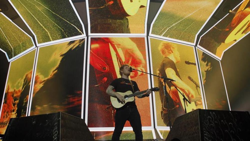 Ed Sheeran en su concierto en Madrid