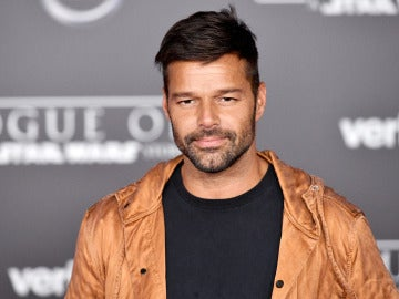 Ricky Martin durante la presentación de una película