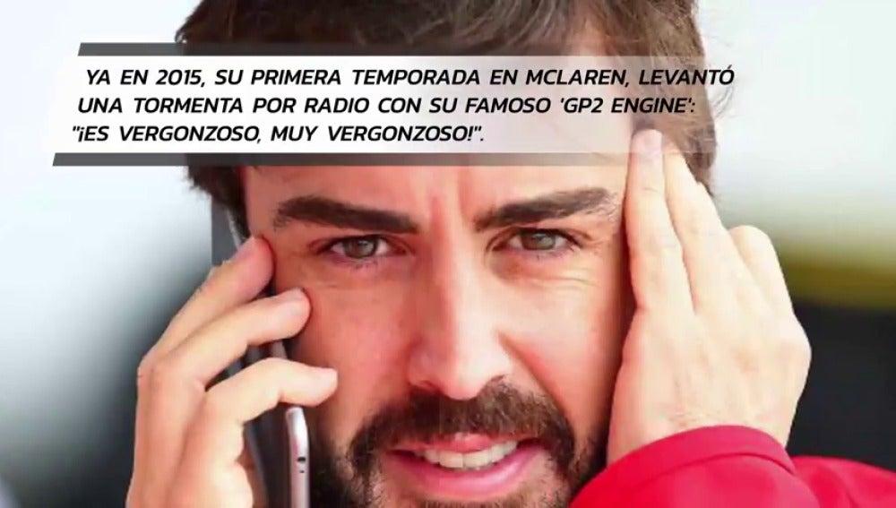 Frame 36.79654 de: VÍDEO: Las mejores (peores) 'liadas' por radio de Fernando Alonso a los ingenieros de McLaren Honda