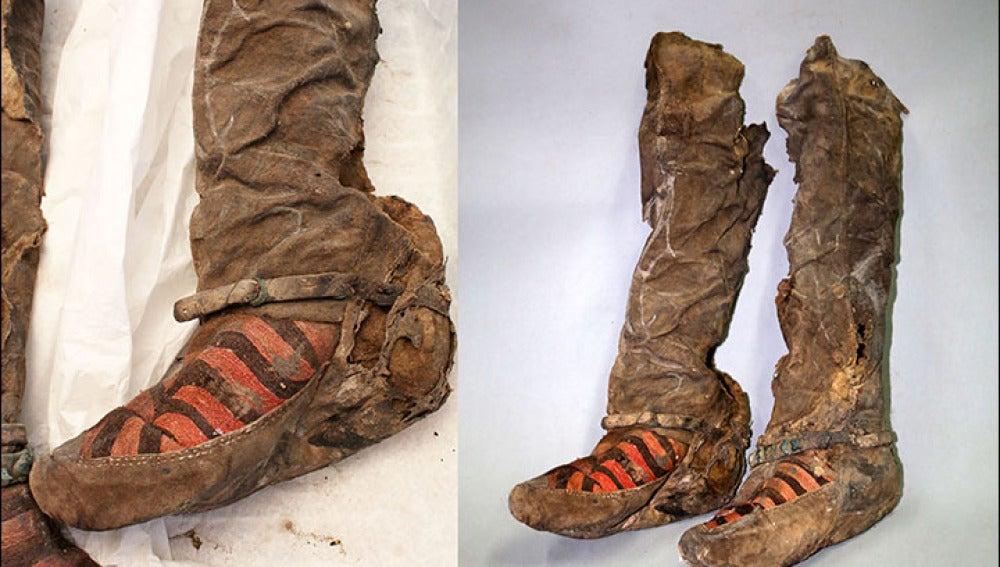 Hallan una momia con unos modernos zapatos