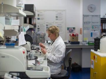 Una científica trabajando en el laboratorio