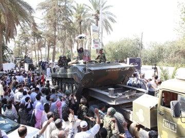 Tropas del ejército sirio en la localidad de Deir al Zur