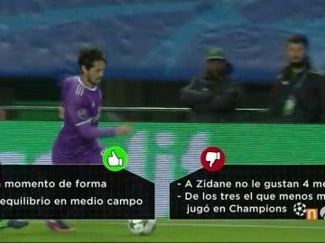 Frame 26.946315 de: Isco, Asensio, Lucas o James: ¿Quién debería sustituir a Gareth Bale contra el Bayern?