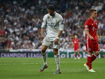 Cristiano Ronaldo, en acción ante el Bayern