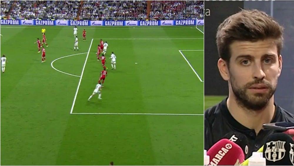 El 'tuit' de Piqué tras el gol de Cristiano