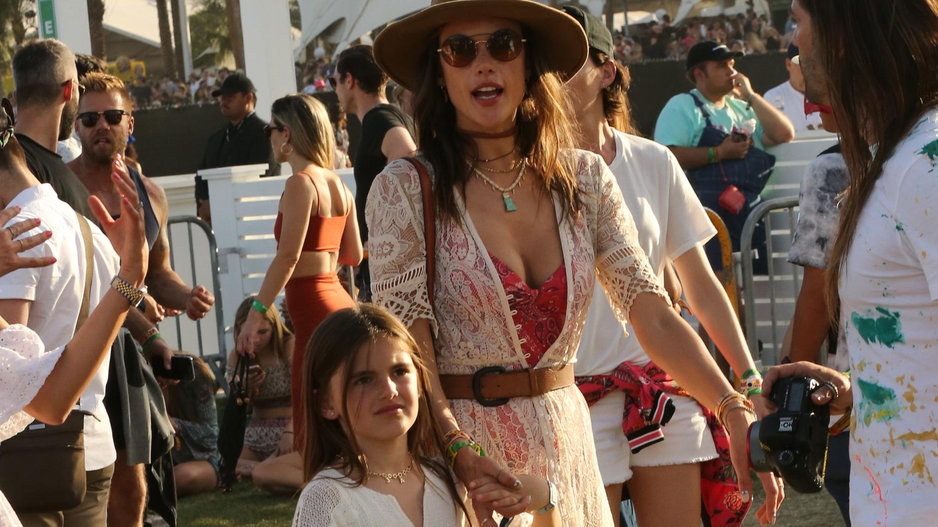 Alessandra Ambrosio con su hija Anja Louis