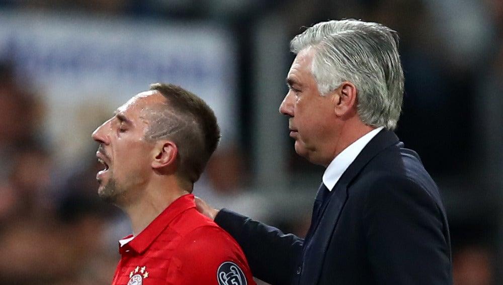 Ribery se lamenta ante la presencia de Ancelotti