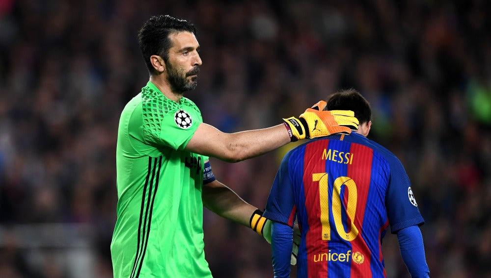 Buffon y Leo Messi