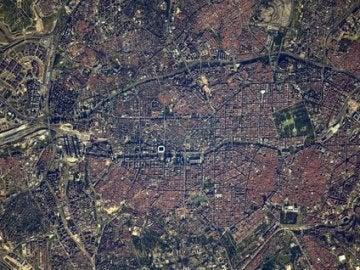 La ESA ha fotografiado la ciudad de Madrid desde el espacio