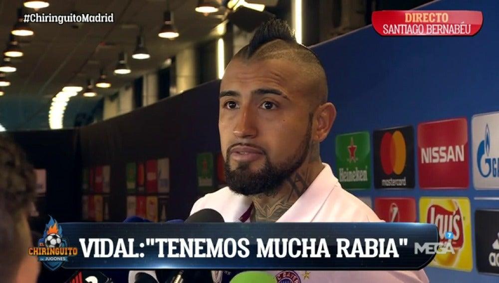 """Frame 46.613333 de: La tremenda 'rajada' de Vidal: """"El árbitro no puede ser el payaso que hace el 'show', fue un robo"""""""