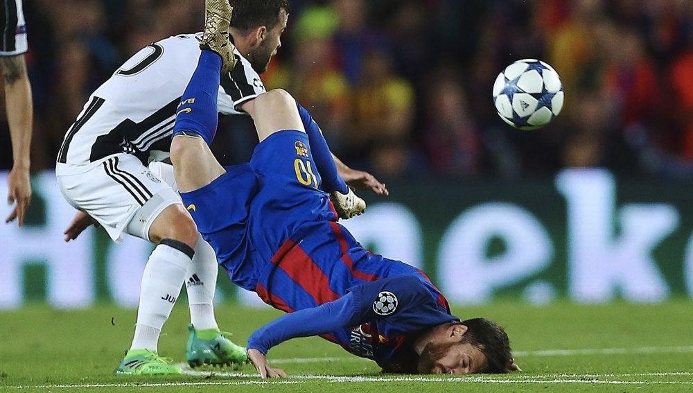 La impactante caída de Leo Messi
