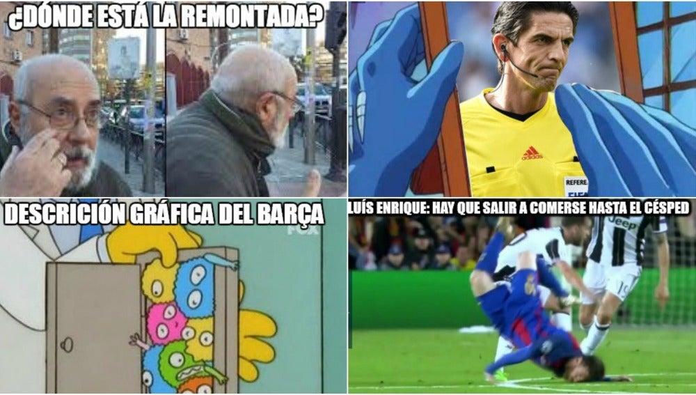 Los 'memes' de la eliminación del Barça