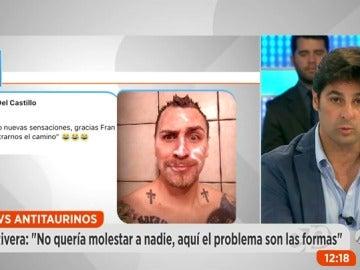 """Frame 79.714285 de: Fran Rivera pide perdón a los antitaurinos: """"Pido disculpas pero los que más respeto mostramos somos los taurinos"""""""