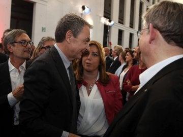 Susana Díaz, junto al expresidente del Gobierno José Luis Rodríguez Zapatero