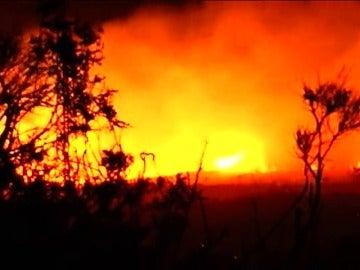 Frame 1.706666 de: Catorce incendios activos salpican al Principado de Asturias