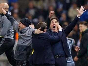 Berizzo celebra el pase del Celta de Vigo a semifinales de la Europa League