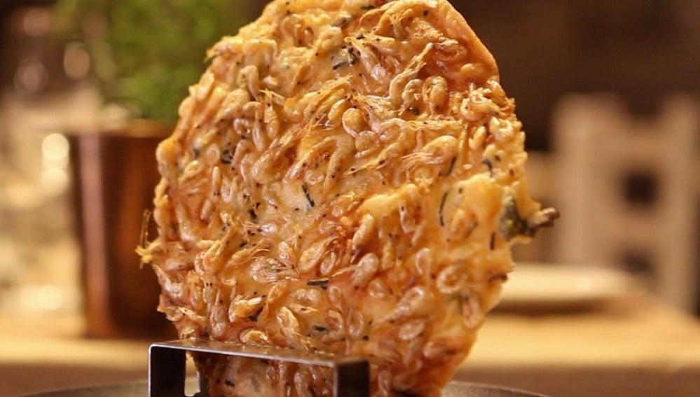 Tortilla camarón