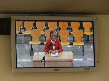 Esperanza Aguirre declarando en la Audiencia Nacional
