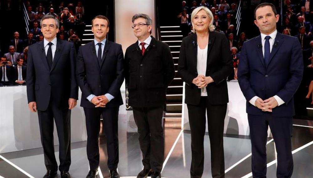Los candidatos a la presidencia de Francia