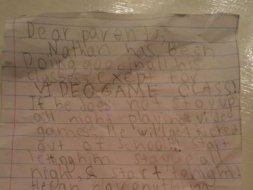 La carta del niño de siete años